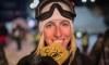Laurie Blouin, Cassie Sharpe et Rachael Karker sur le podium des X Games d'Aspen