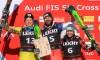 Kevin Drury sur le podium en Coupe du monde de ski cross