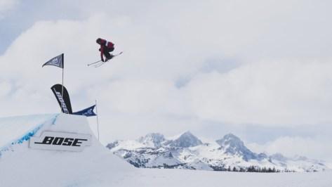 Megan Oldham en action à la Coupe du monde de Silvaplana, en Suisse, le 30 mars 2019. Photo : Mateusz Kielpinski (FIS)