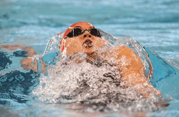 Kylie Masse aux Essais canadiens de natation, le 7 avril 2019. (Photo : Natation Canada)