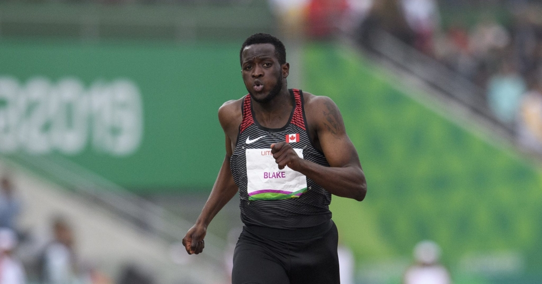 Un sprinteur en action