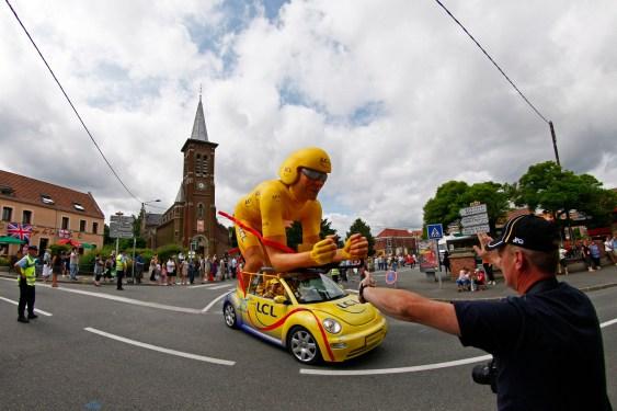 char allégorique de la caravane publicitaire du Tour de France 2018