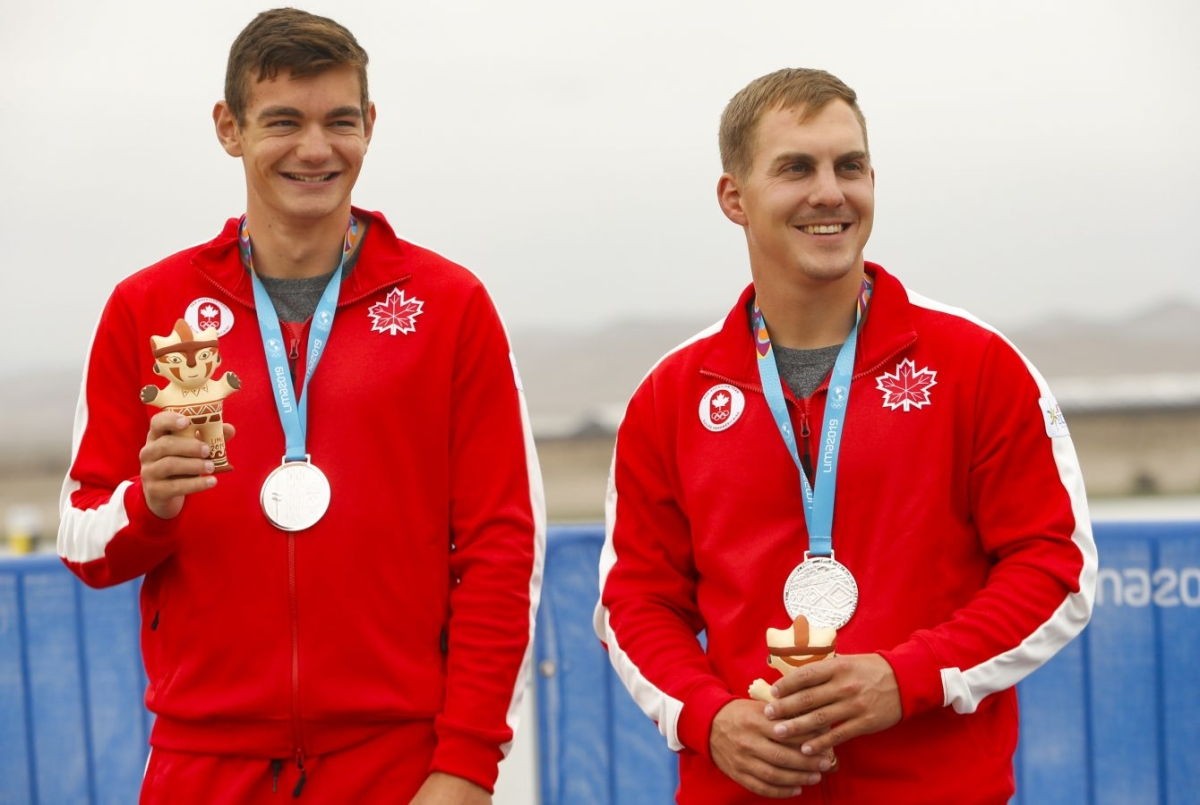 Équipe Canada Canoe Sprint Jarret Kenke et Jacob Steele Lima 2019
