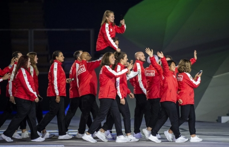 Équipe Canada à la cérémonie d'ouverture de Lima 2019.