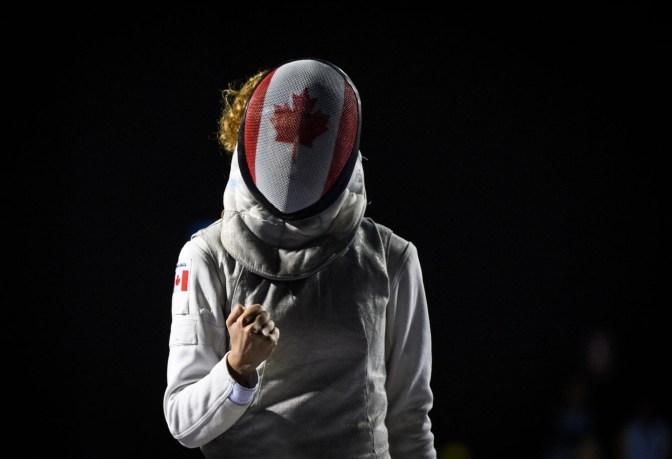 Eleanor Harvey participe au fleuret individuel aux Jeux panaméricains de Lima, au Pérou, le 5 août 2019.