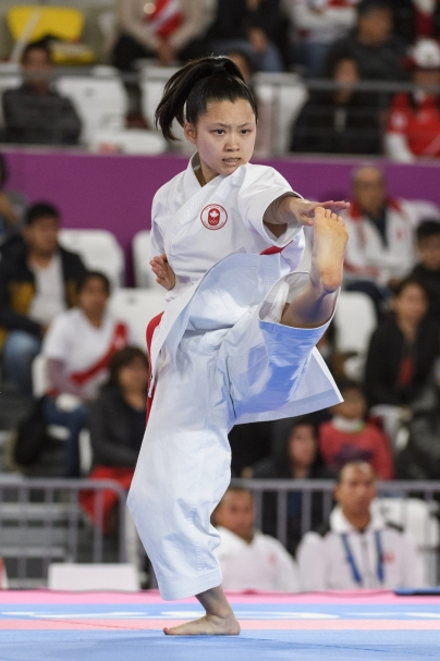 LIMA, Peru - Ha Thi Ngo of Canada compete in women's individual kata at the Lima 2019 Pan American Games on August 09, 2019. Photo by Christopher Morris/COC