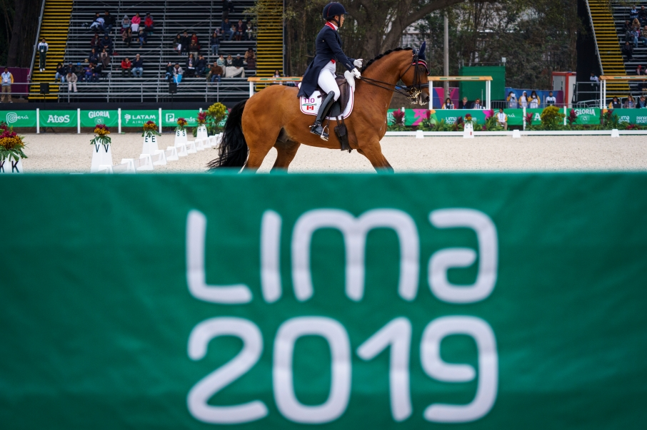 Équipe Canada Jill Irving à l'épreuve du Dressage à Lima 2019