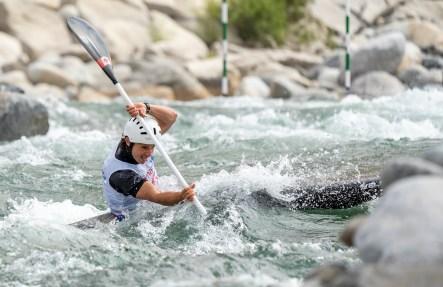 Keenan Simpson, du Canada, participe au slalom en kayak masculin aux Jeux panaméricains de 2019 à Lima, le 4 août 2019. Photo de David Jackson / COC