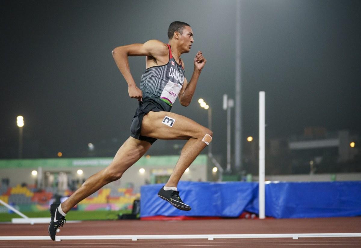 Pierce Lepage pendant un sprint