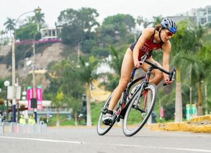 Karol-Ann Roy lors du triathlon à Lima 2019
