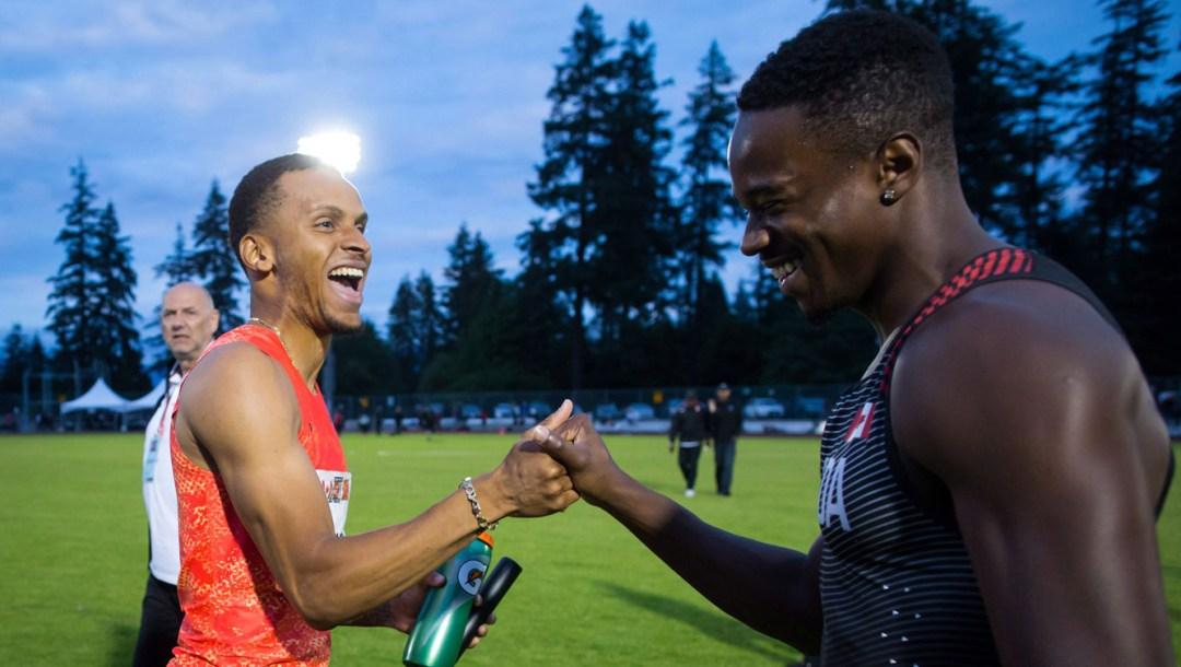 Equipe-Canada-Andre-De-Grasse-Aaron-Brown-athlétisme-Harry-Jerome-2018