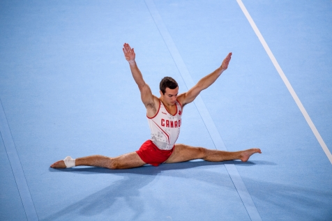 René Cournoyer lors de la finale par équipes aux Jeux panaméricains de Lima 2019, au Pérou, le 28 juillet 2019. Photo Christopher Morris/COC