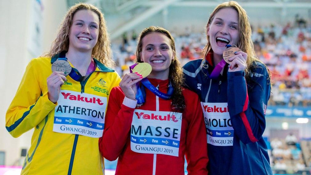 Kylie Masse défend son titre mondial au 100 m dos