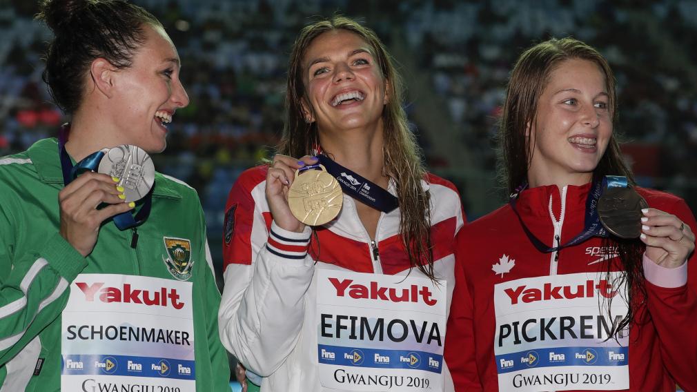 Mondiaux FINA: Le bronze et un record canadien pour Pickrem au 200 m brasse