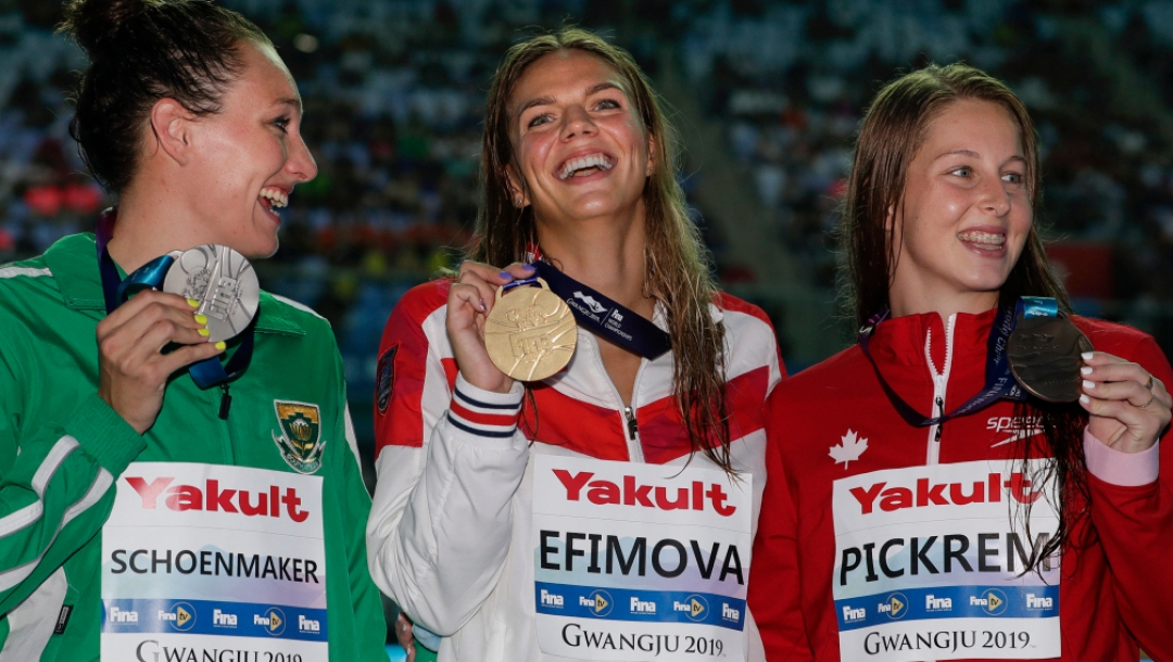 Yuliya Efimova,Tatjana Schoenmaker,Sydney Pickrem