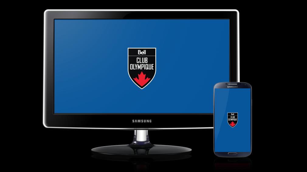 Club olympique canadien présenté par Bell – Fond d'écran bleu