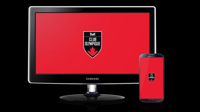Club olympique canadien présenté par Bell – Fond d'écran rouge
