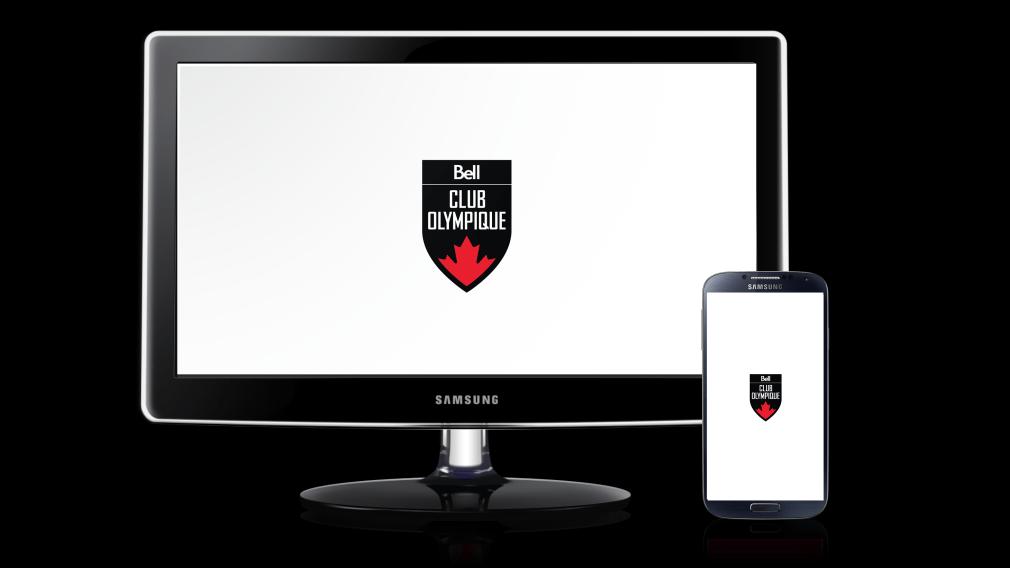 Club olympique canadien présenté par Bell – Fond d'écran blanc