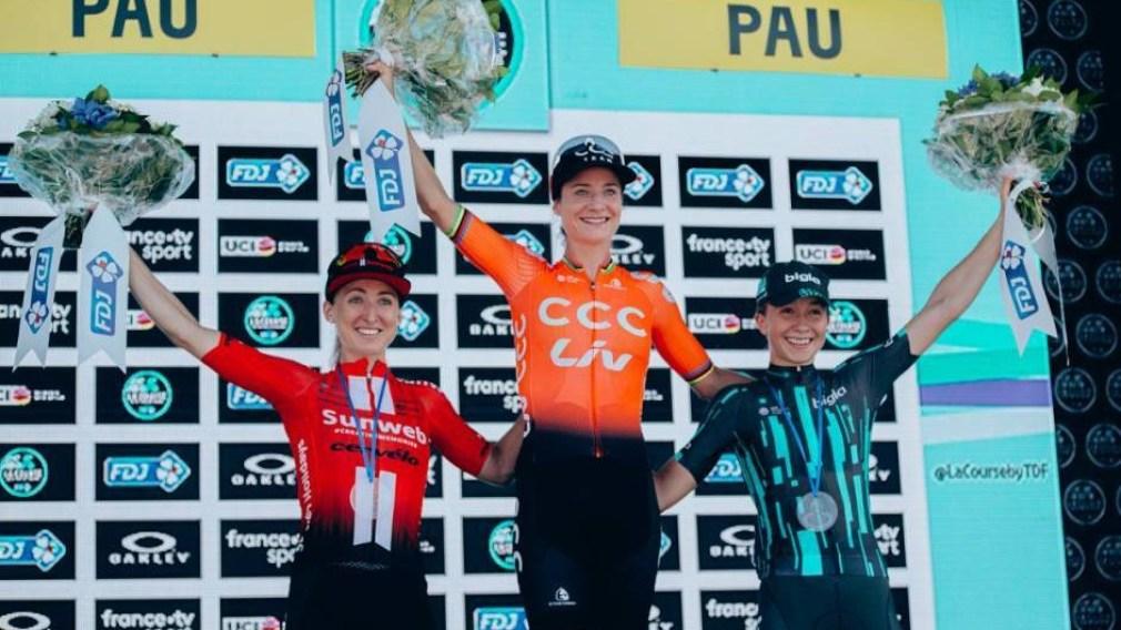 Leah Kirchmann en argent à La Course du Tour du France