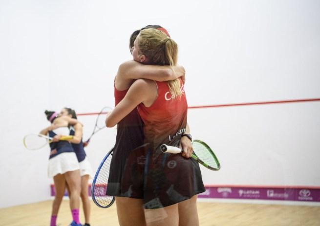 Samantha Cornett et Danielle Letourneau aux Jeux panaméricains de Lima 2019, au Pérou, le 28 juillet 2019. Photo Vincent Ethier/COC
