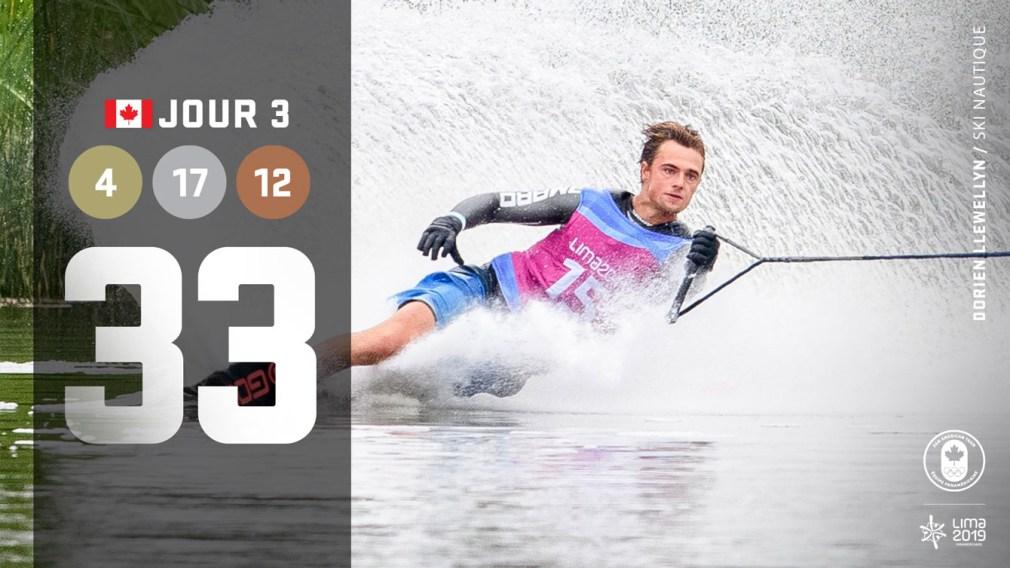 Lima 2019 | Jour 3: 7 médailles en ski nautique, une qualification pour Tokyo 2020 et bien plus
