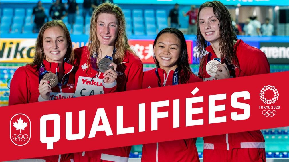Mondiaux FINA: Les Canadiennes en bronze au relais 4×200 m