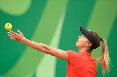 Jada Bui pendant un match de tennis à Lima 2019