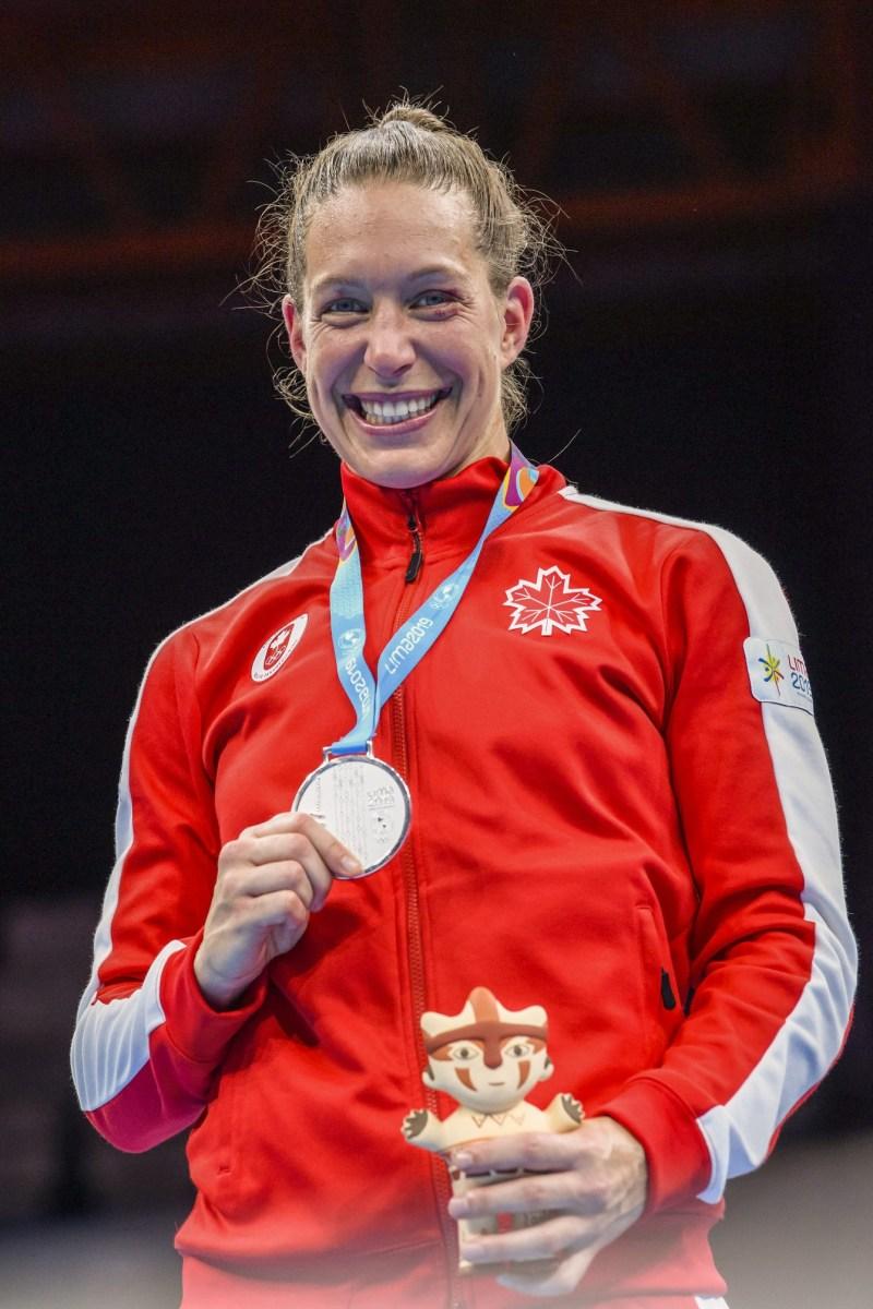Myriam da Sylva et sa médaille d'argent en boxe de Lima 2019