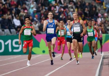 William Paulson participe à la finale du 1500 m aux Jeux panaméricains de Lima, au Pérou, le 8 août 2019. Photo : Vincent Ethier/COC