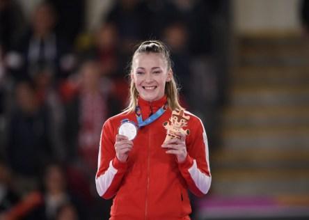 Kate Campbell et sa médaille d'argent