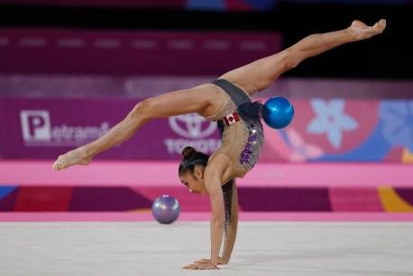 Katherine Uchida au ballon à Lima 2019