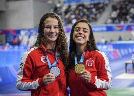 Caeli McKay et Meaghan Benfeito à Lima 2019