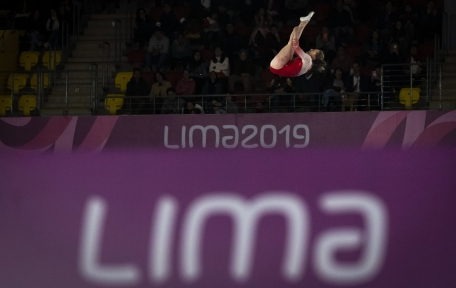 Samantha Smith lors de la finale du trampoline aux Jeux panaméricains de Lima, au Pérou, le 5 août 2019. Photo : David Jackson/COC