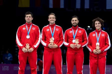 L'équipe du sabre masculin à Lima 2019