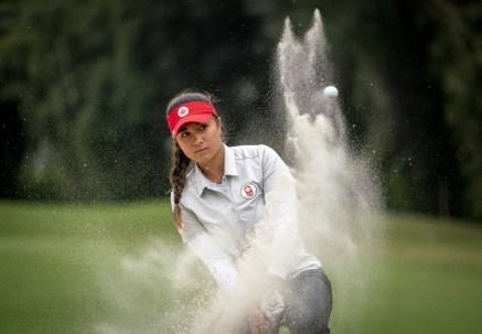 Mary Parsons Austin Connelly participe à la ronde finale en golf aux Jeux panaméricains de Lima, au Pérou, le 11 août 2019. Photo : David Jackson/COC