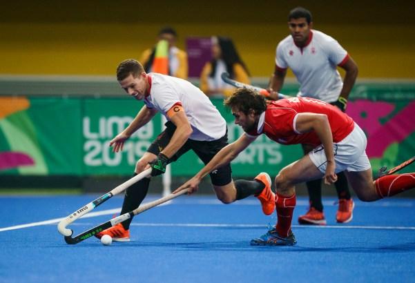 Scott Tupper joue au hockey sur gazon Lima 2019