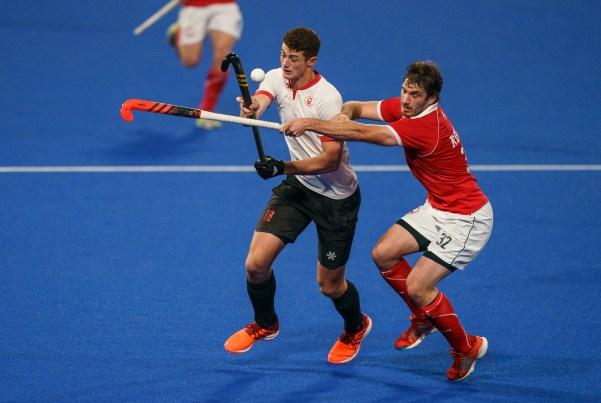 James Wallace joue au hockey sur gazon Lima 2019