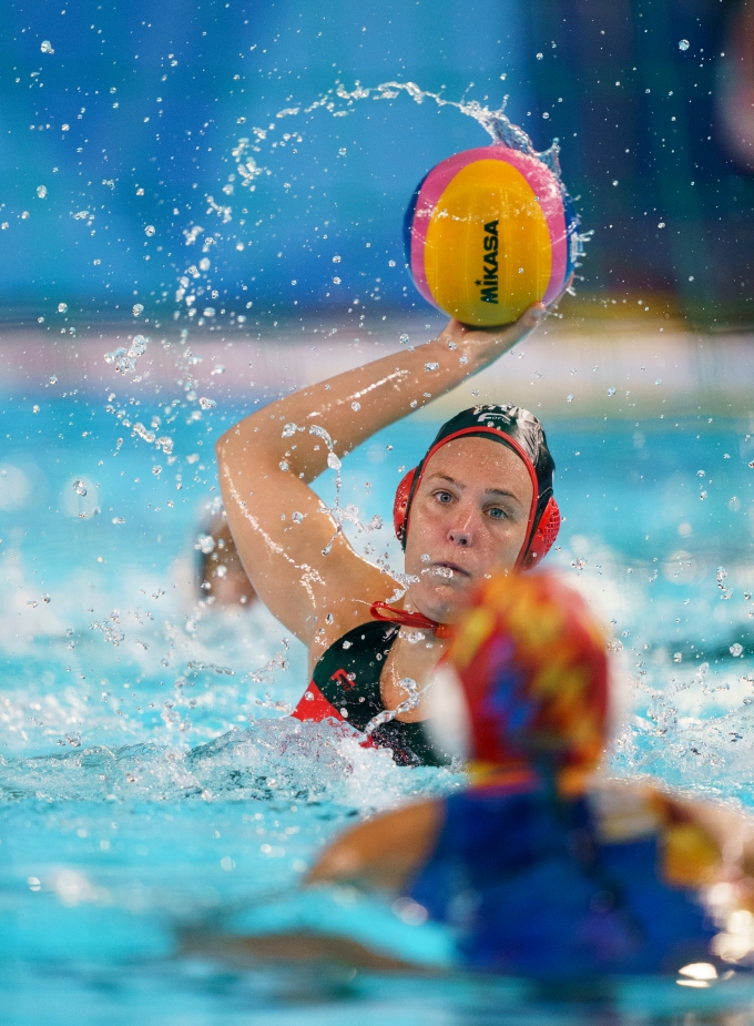 Monika Eggens en action à Lima 2019