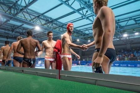 Des joueurs de water-polo à Lima 2019