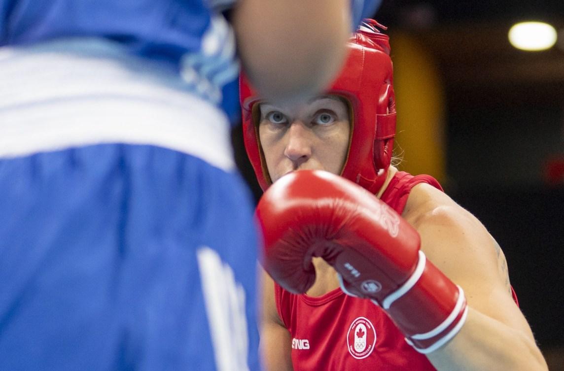 Myriam Da Silva Rondeau pendant un match à Lima 2019