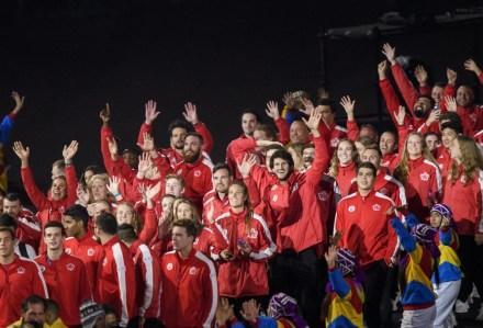 Équipe Canada à la cérémonie de fermeture aux Jeux panaméricains de Lima, au Pérou, le 11 août 2019. Photo : Vincent Ethier/COC