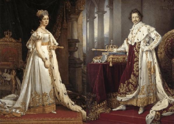 Portrait de mariage de la princesse Therese de Saxe-Hildburghausen au Prince Ludwig. (Photo: Oktoberfest Brisbane)