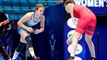 Linda Morais face à sa rivale Liubov Ovcharova