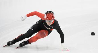 Kim Boutin patine lors de la finale du 1500 m