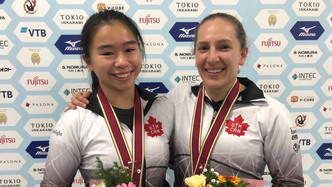 equipe canada - Samantha Smith - Rachel Tam - Mondiaux Trampoline 2019