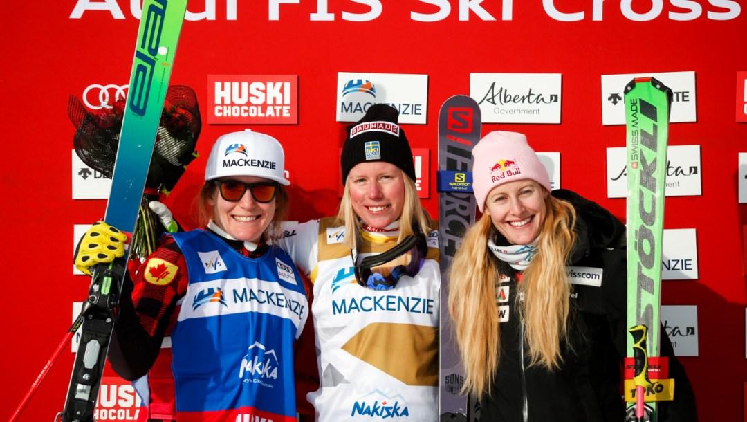 Podium féminin de ski cross