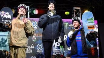 Mark McMorris et Max Parrot sur le podium