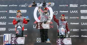 Sébastien Toutant sur le podium
