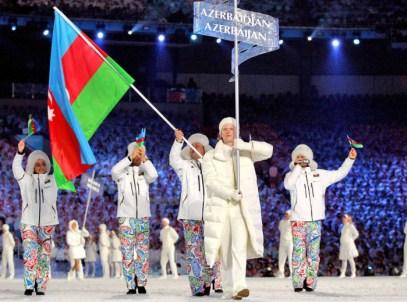 Les athlètes d'Azerbaïdjan à la Cérémonie d'ouverture de Vancouver 2010