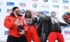 Équipe Kripps en or et 3e au classement général de la saison en bob à quatre